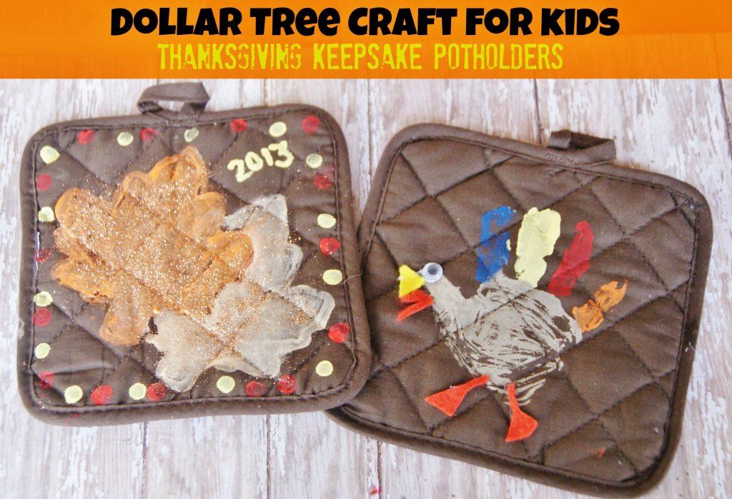 Dollar Tree Thanksgiving Keepsake Potholder Craft for Kids