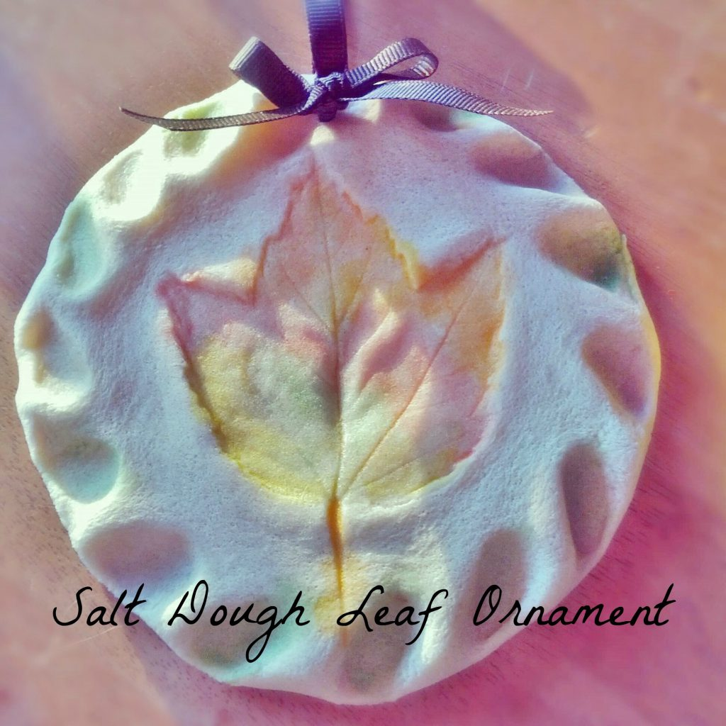 salt dough leaf ornament holiday