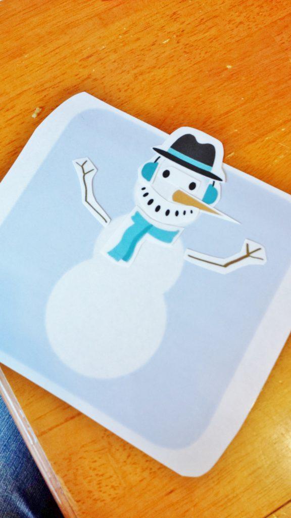 printable snowman winter activity