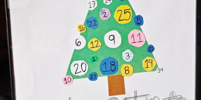 DIY Interactive Paper Preschool Advent Calendar Tutorial