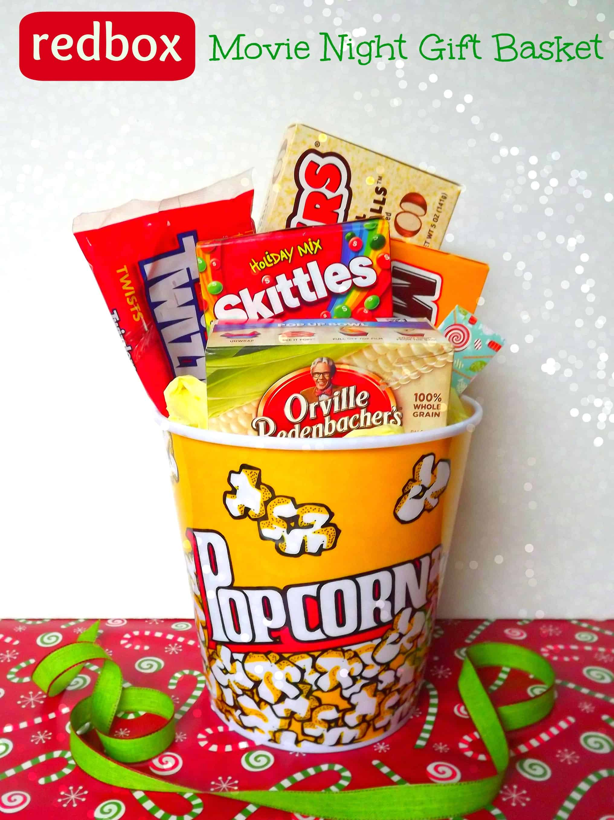 image relating to Redbox Gift Card Printable known as Do-it-yourself Online video Evening Redbox Present Basket Trainer Present Notion