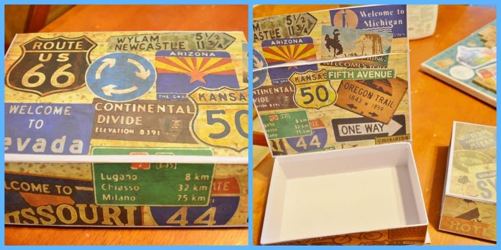 DIY Travel Memory Box Collage