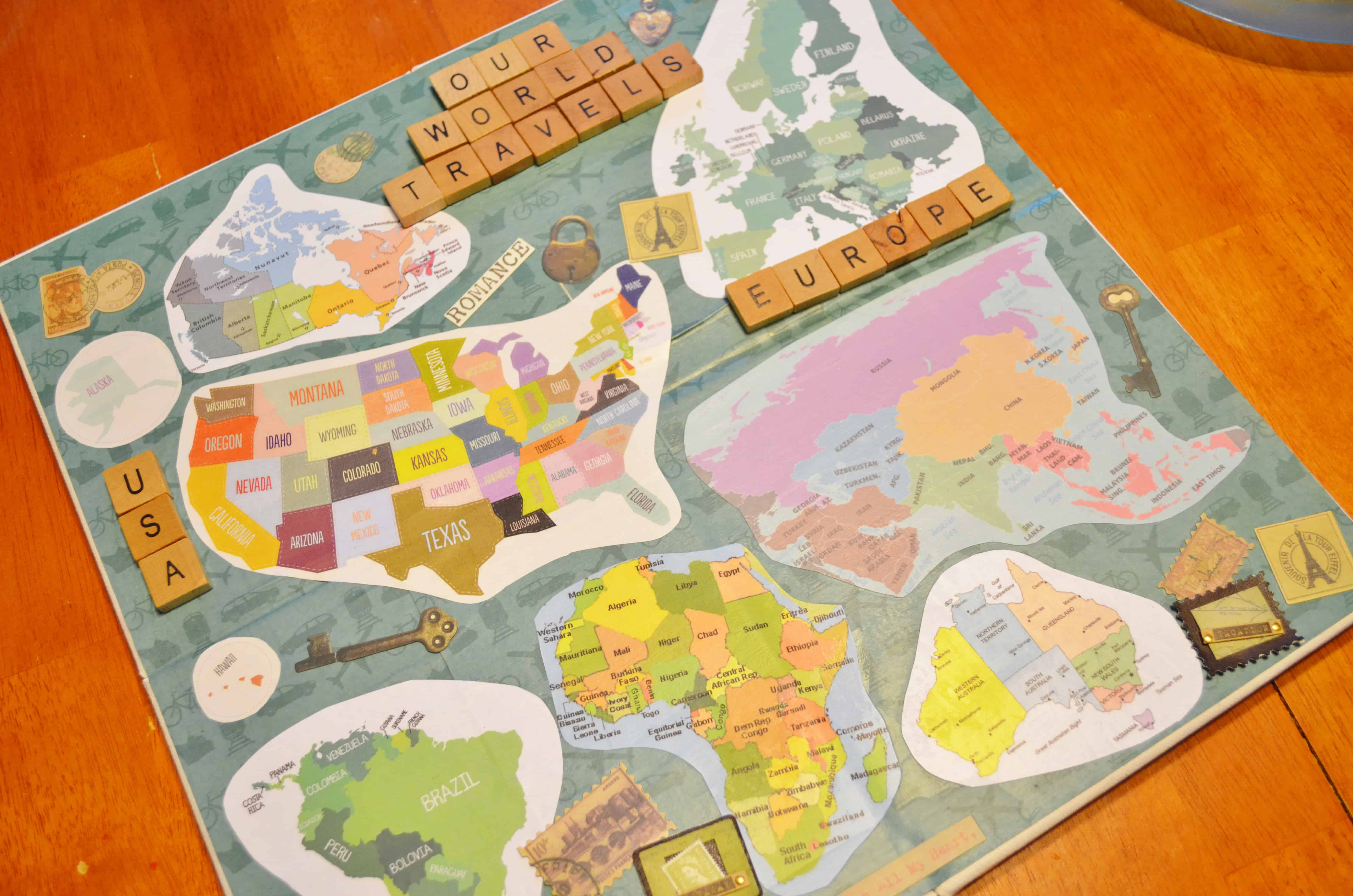 Diy mod podge memory boxes travel memory map project because gumiabroncs Choice Image