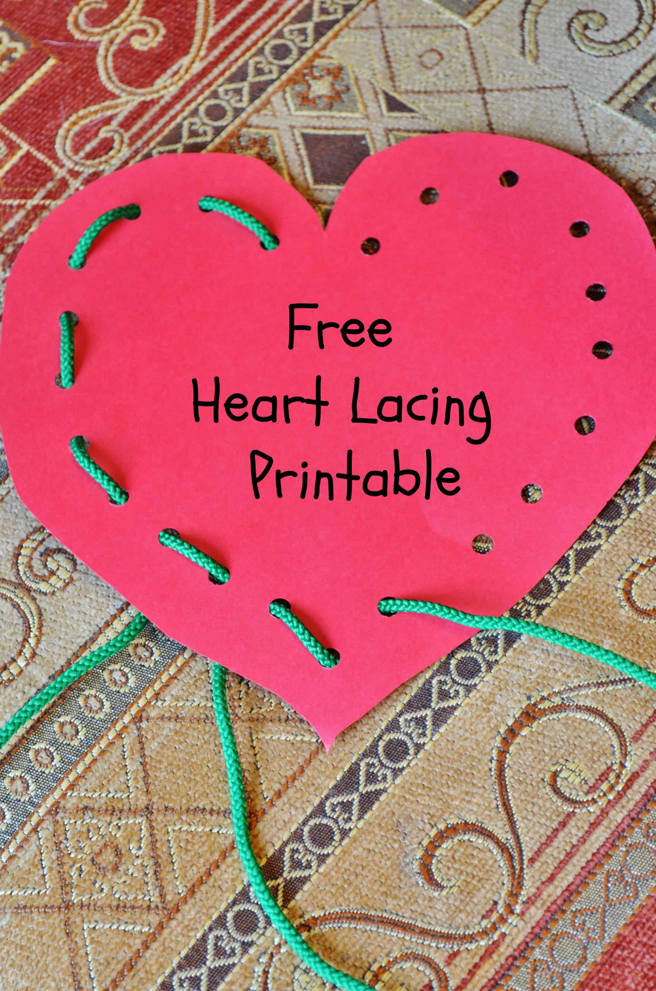"""free heart """"lace and trace"""" printable"""