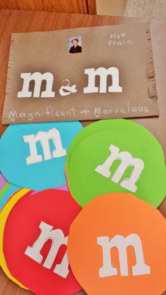 M&M teacher student kindness inspiration