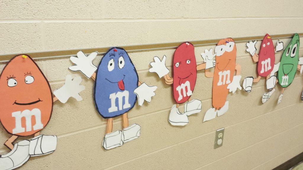 M & M classroom wall art decor