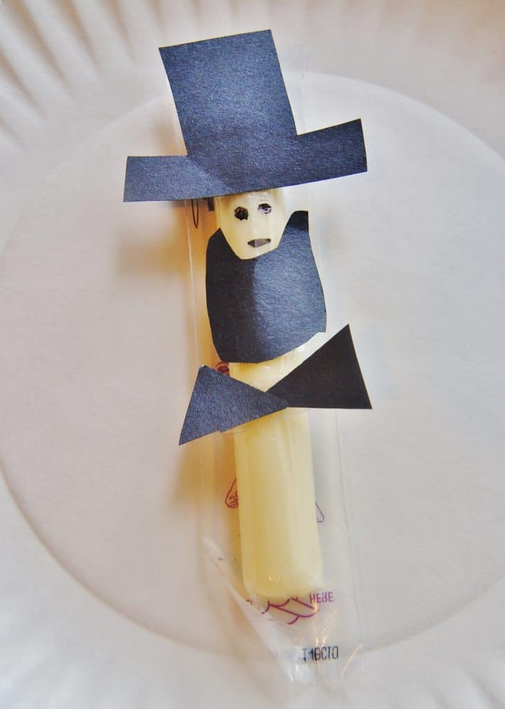 Abraham Lincoln string cheese snack