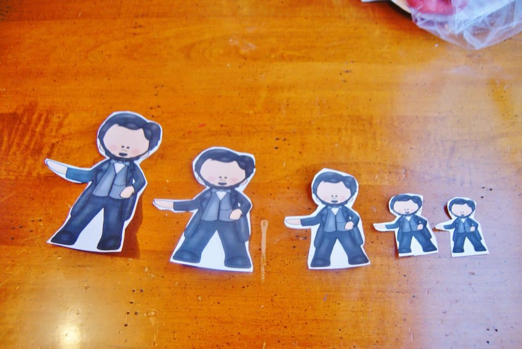 printable Abraham Lincoln paper figures