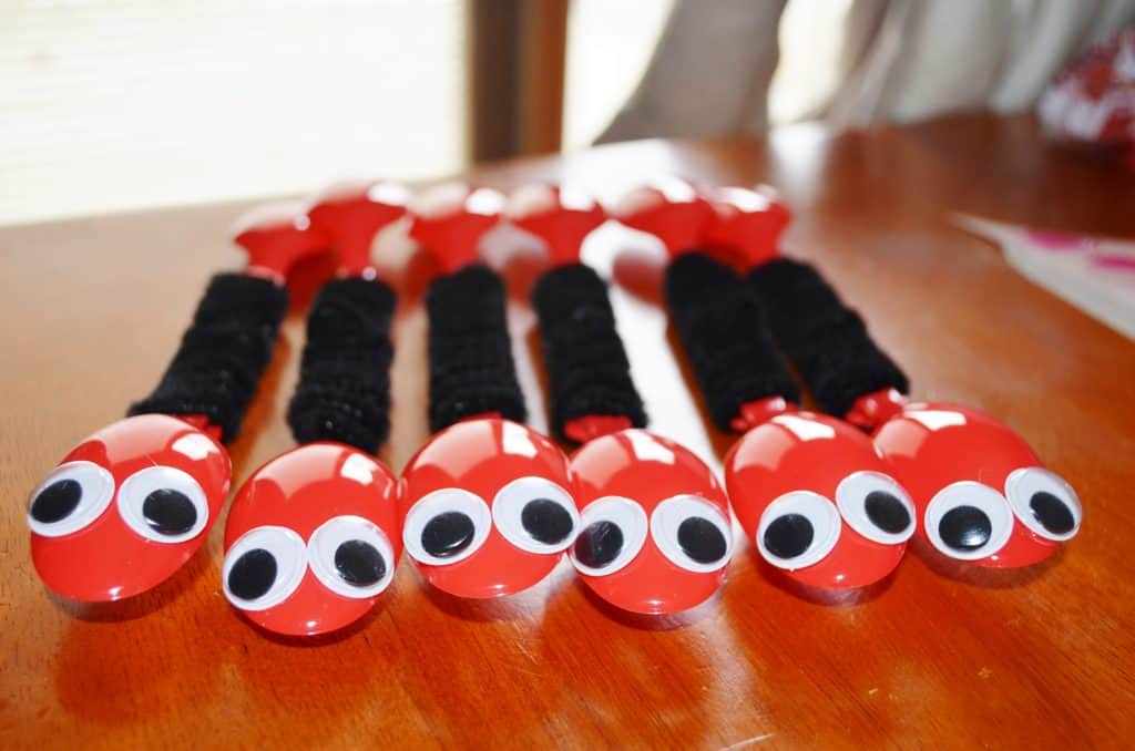 ant spoons bug craft for kids