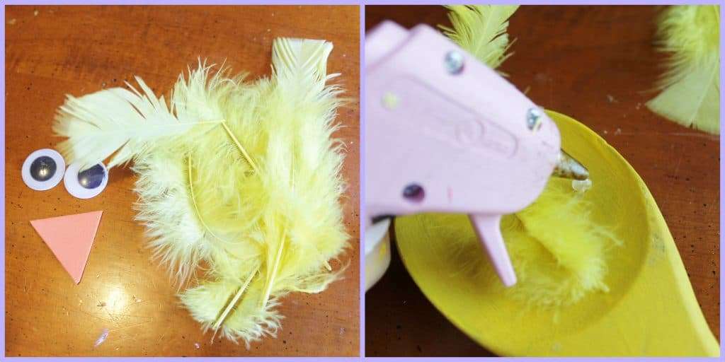 easter chick puppet Collage
