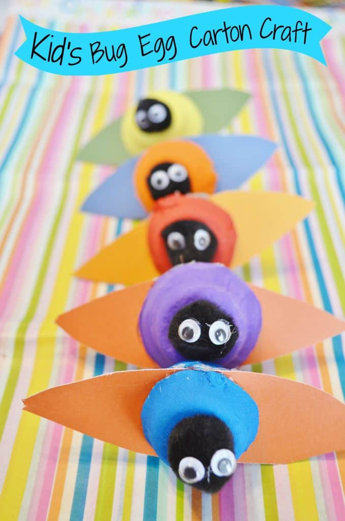 kids bug egg carton craft