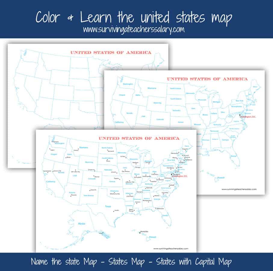free printable USA maps