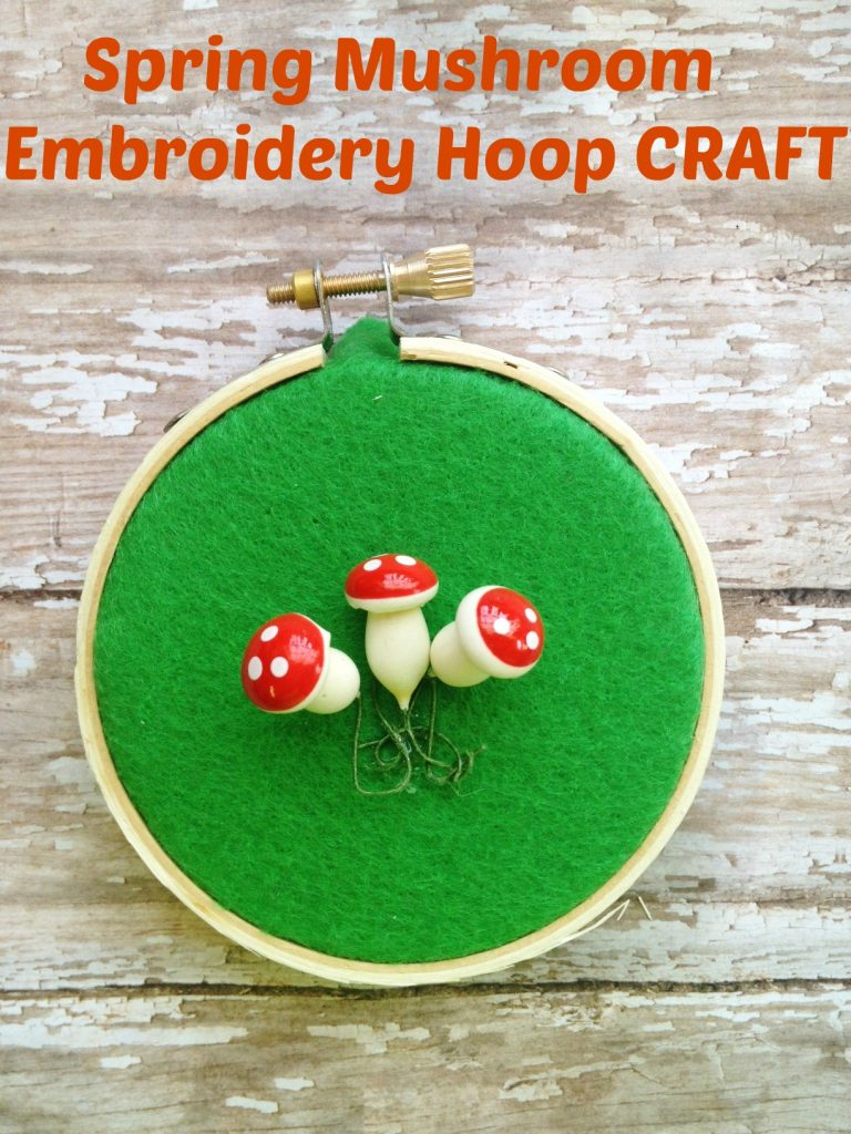 mushroom spring craft for kids