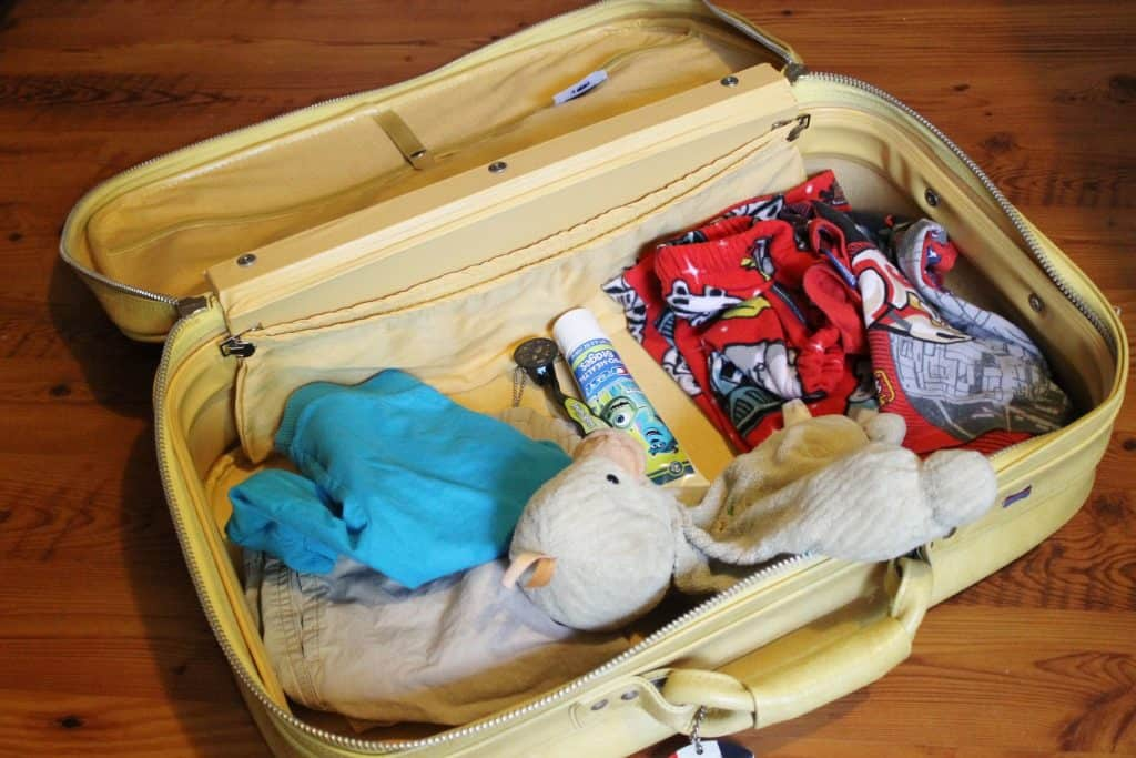 packing for a trip with kids - imaginative play