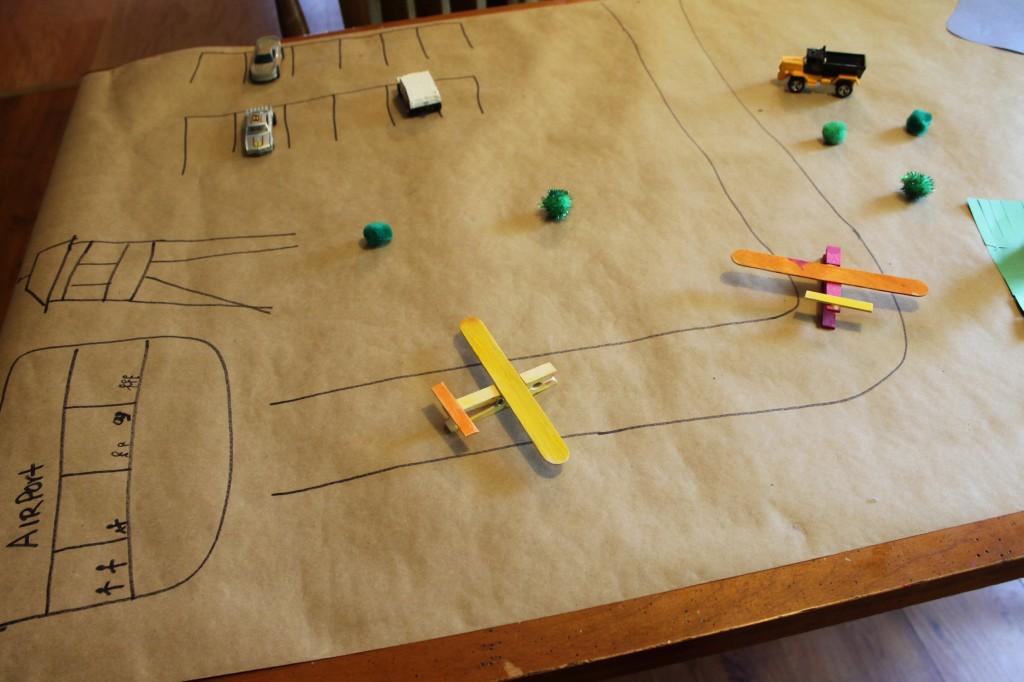 DIY kids airplane play mat