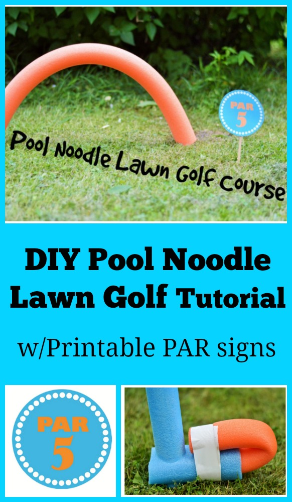 DIY Pool Noodle Lawn Golf Tutorial