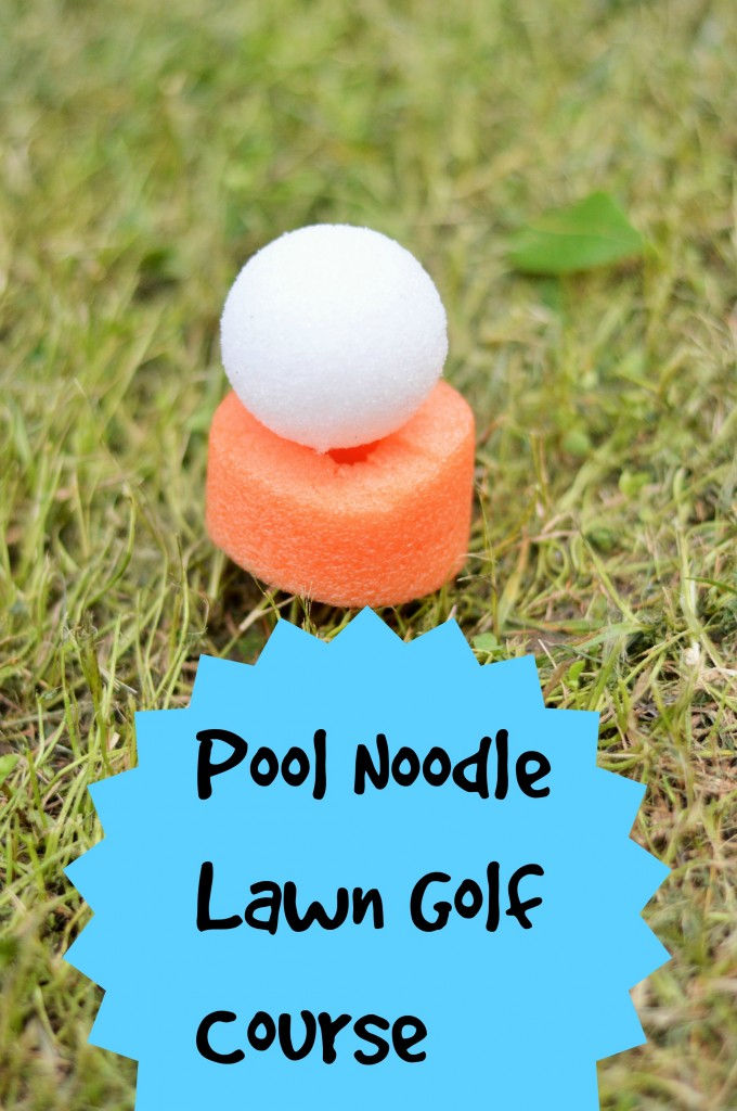 DIY Pool Noodle Lawn Golf Course Tutorial