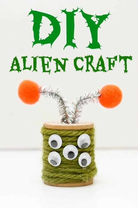 DIY Alien Space craft for kids
