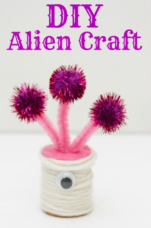 DIY alien space craft kids