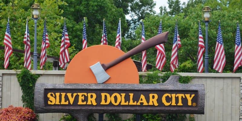 silver dollar city sign