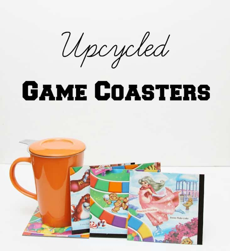 upcycled game coasters tutorial