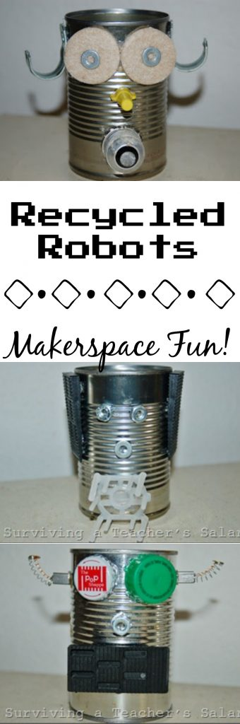 Recycled Soup Can Robots Makerspace