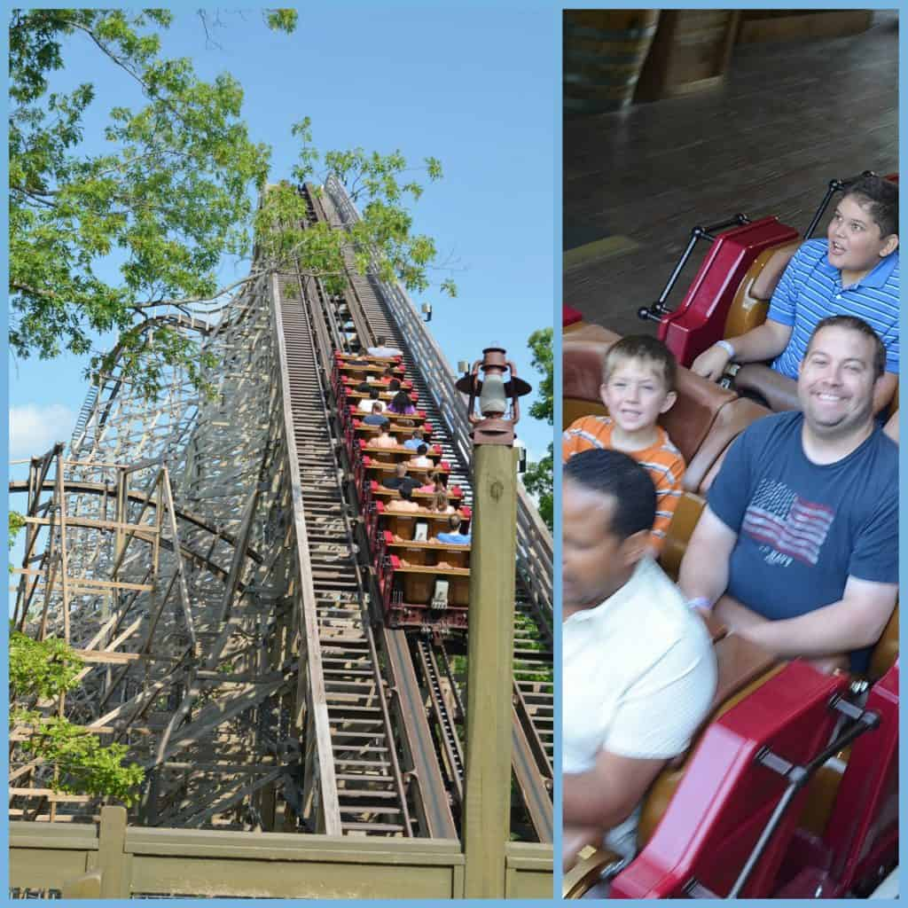 roller coaster Collage at Silver Dollar City Branson
