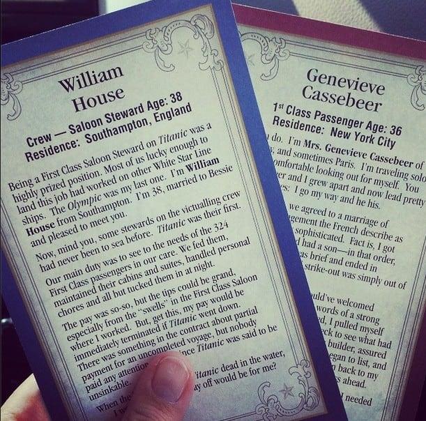 titanic cards branson