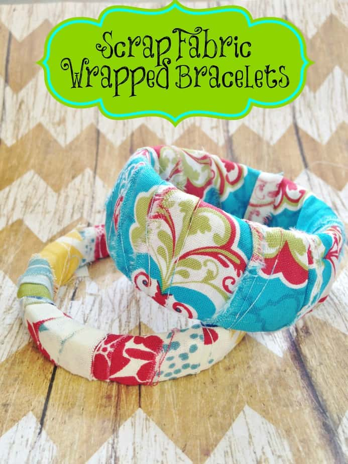 Diy Scrap Fabric Wrapped Bracelets Kid S Craft Gift Idea