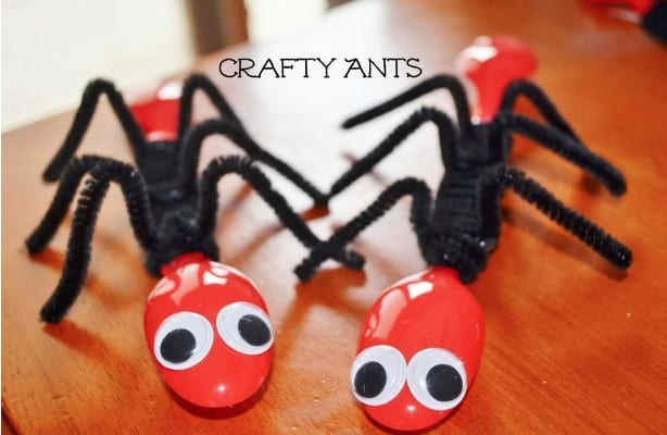 two ant spoons bug crafts