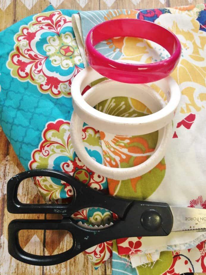 Scrap Fabric Wrapped Bracelets