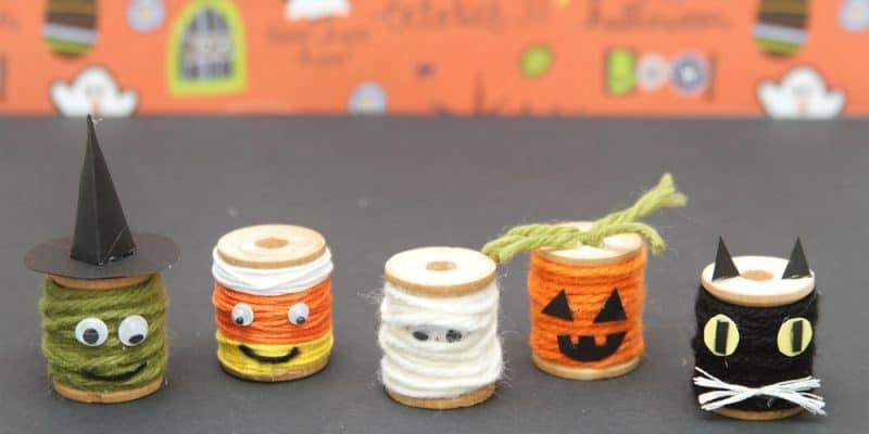 The PERFECT Halloween Spool Craft Home Decor EVER