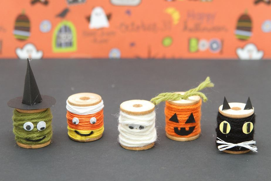 halloween sewing spool kids craft