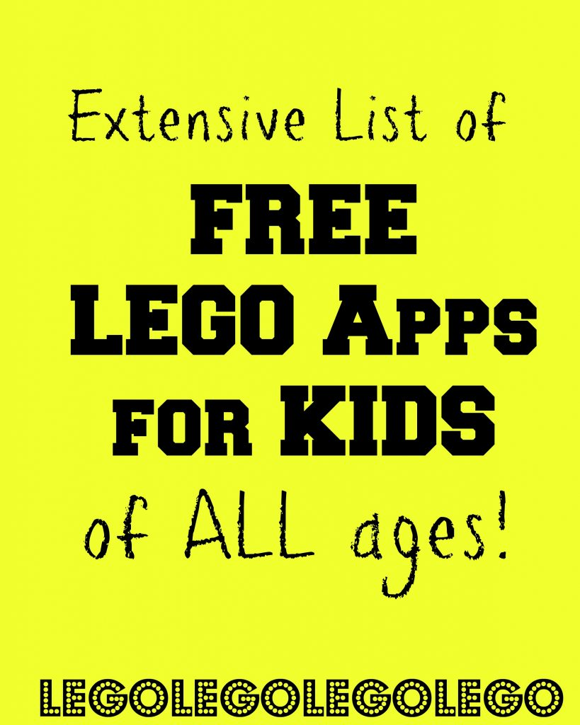 list of free lego apps for kids