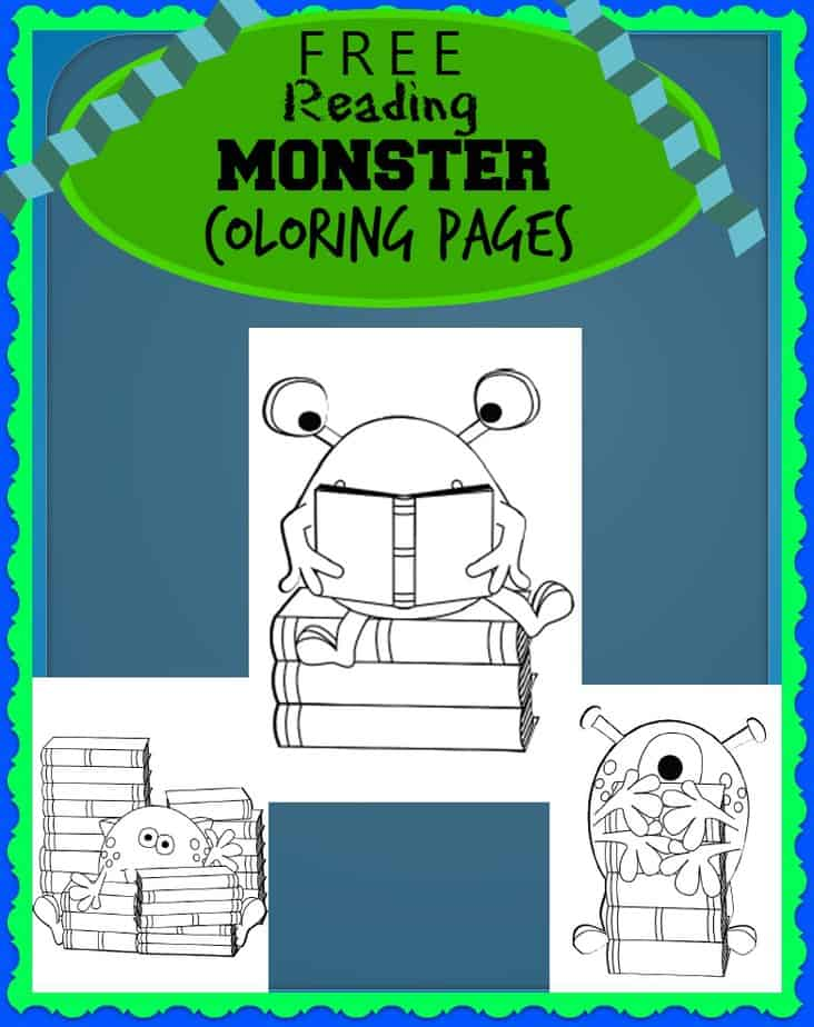 FREE Monster Coloring Sheet Image
