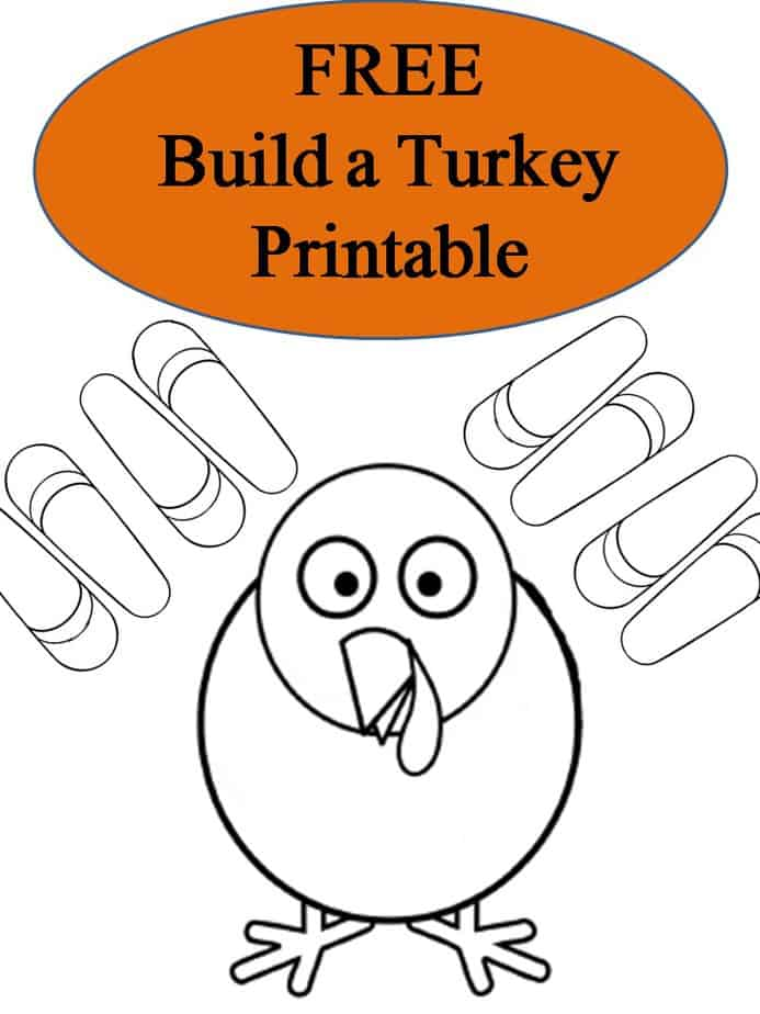 Free Build a Turkey Printable Image