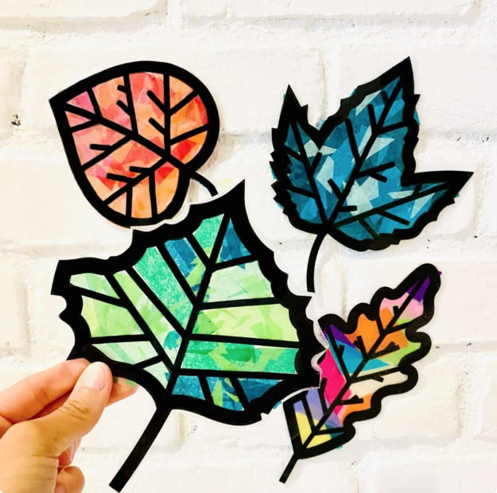 leaf suncatchers art etsy