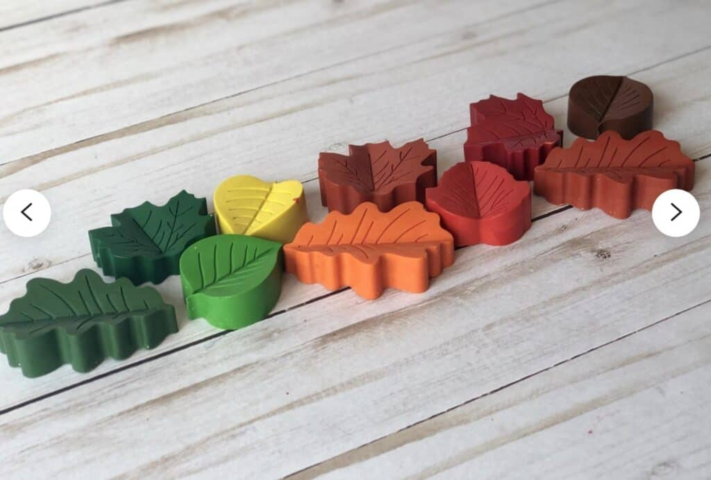 fall leaf crayons etsy