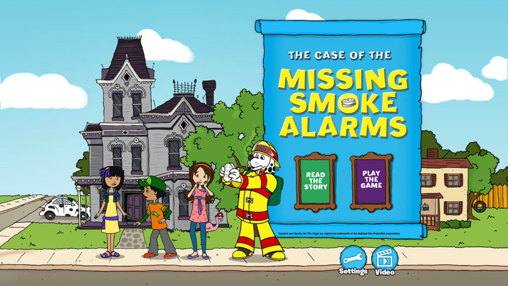 Sparky and the Missing Alarms Fire Prevention App