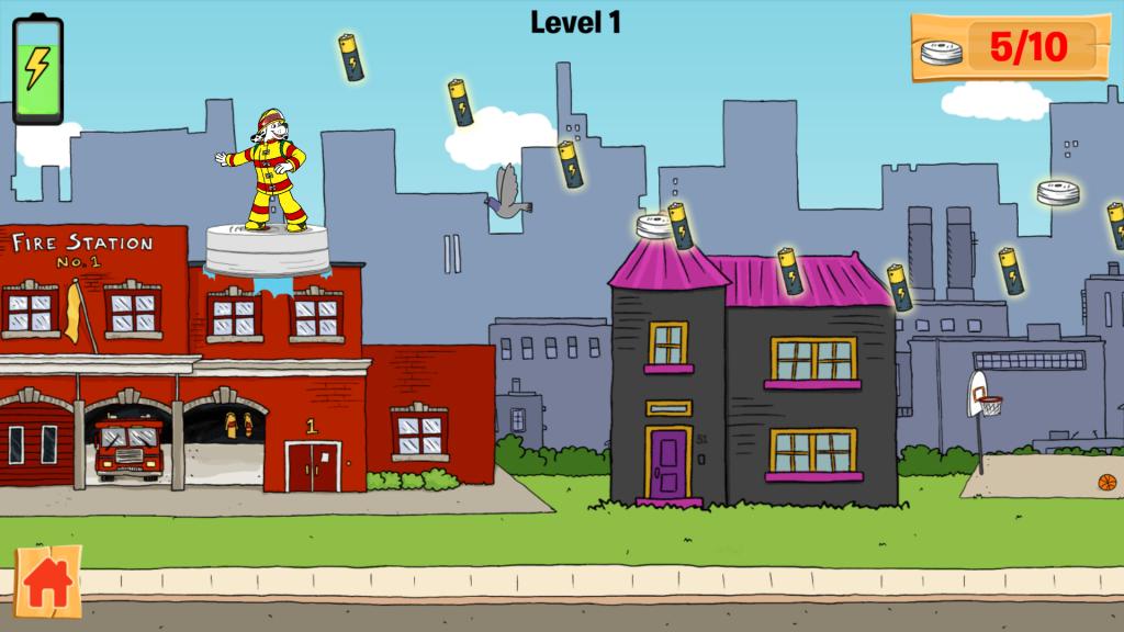 Spark Missing Smoke Alarm Fire Prevention app for kids