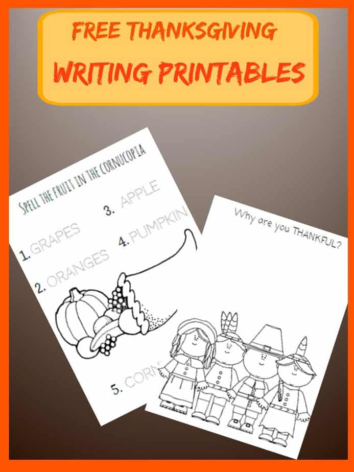 Printable Worksheets thanksgiving free printable worksheets : FREE Thanksgiving Writing Printable Worksheets