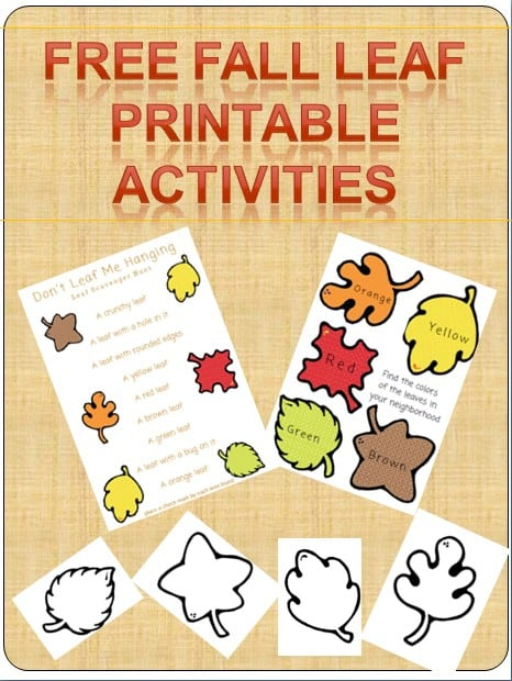 free printable fall leaf activity book pack