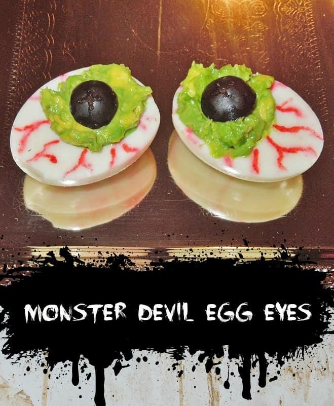Spooky Halloween Recipe Deviled Eggs
