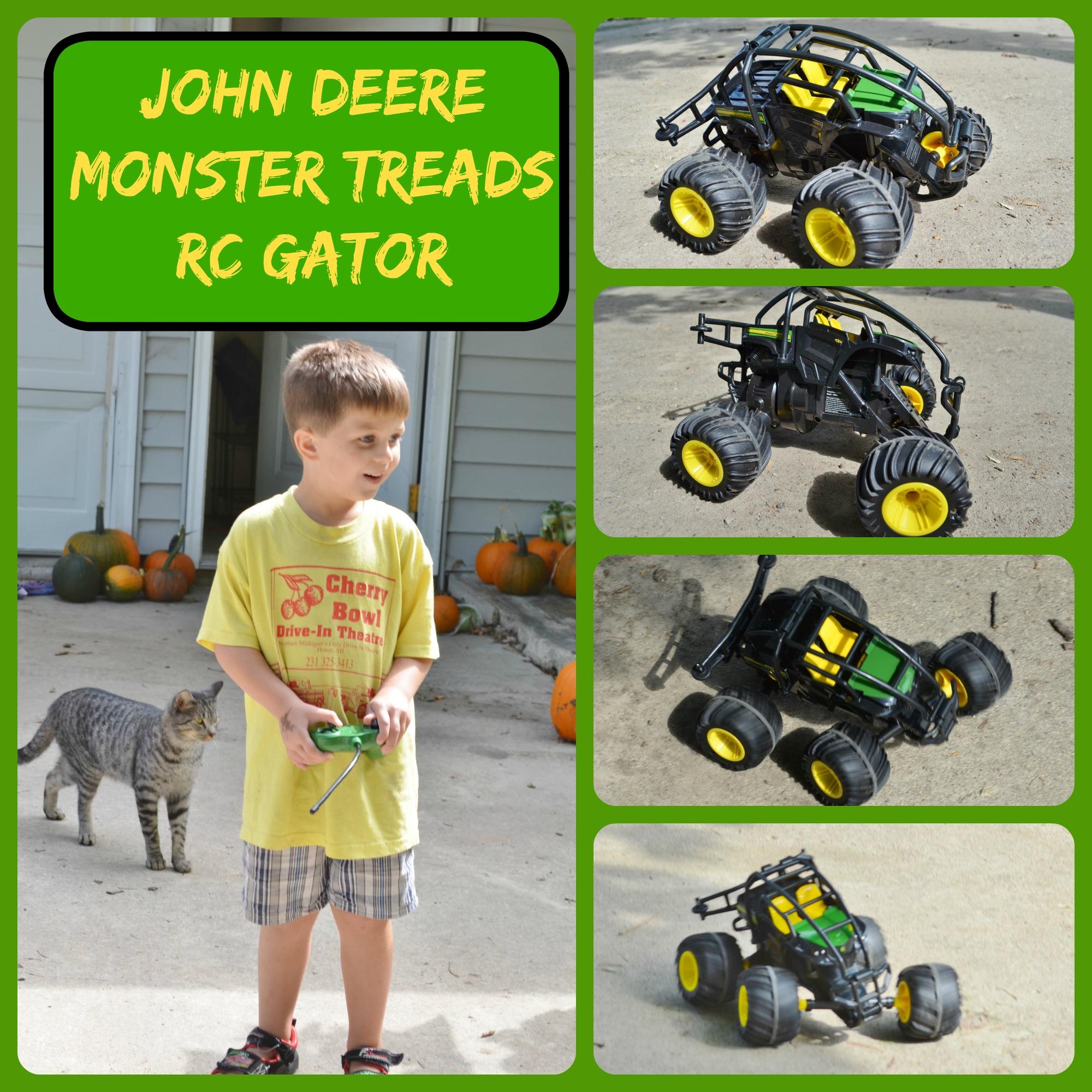 john deere monster treads rc gator toy  sc 1 st  Surviving A Teacheru0027s Salary & John Deere Monster Treads RC Gator Review