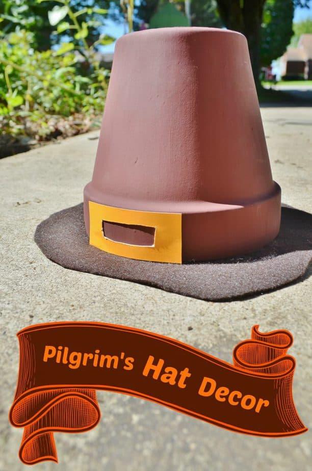 pilgrim hat thanksgiving decor