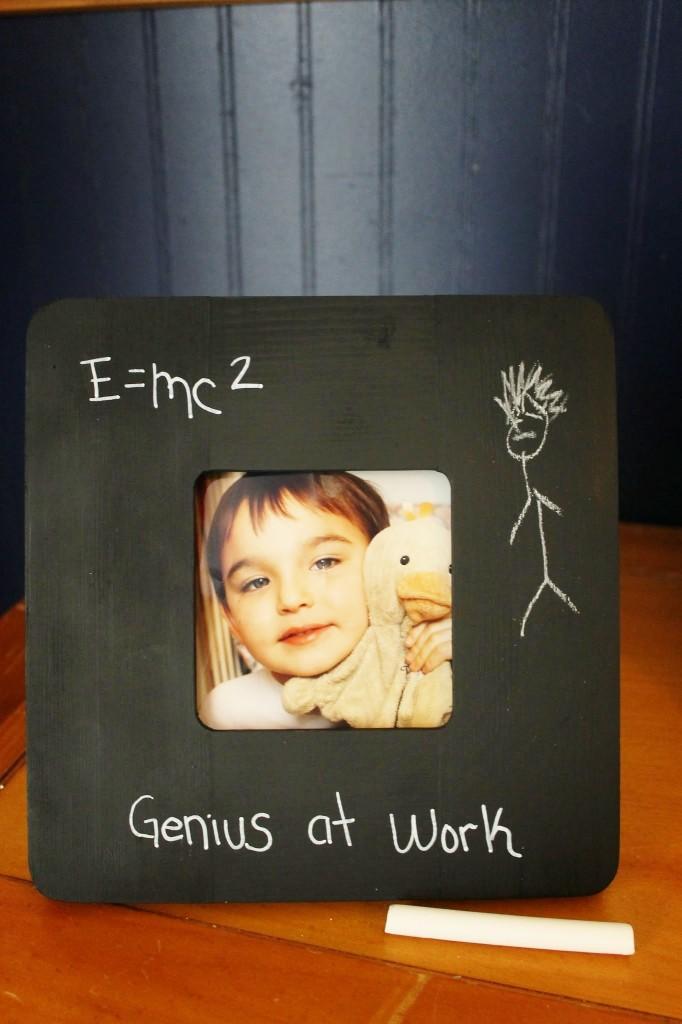 Einstein book study chalk frame finished