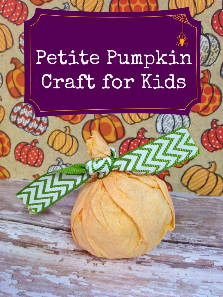 Petite Pumpkin Preschool Coffee Filter Craft For Kids