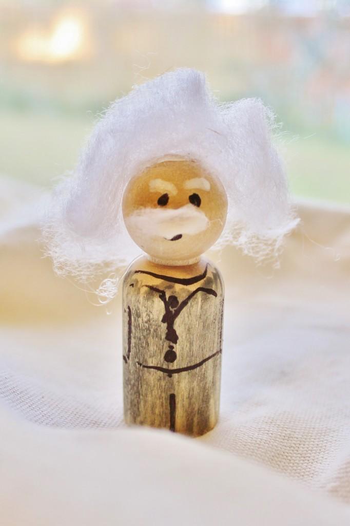 einstein DIY action figure doll