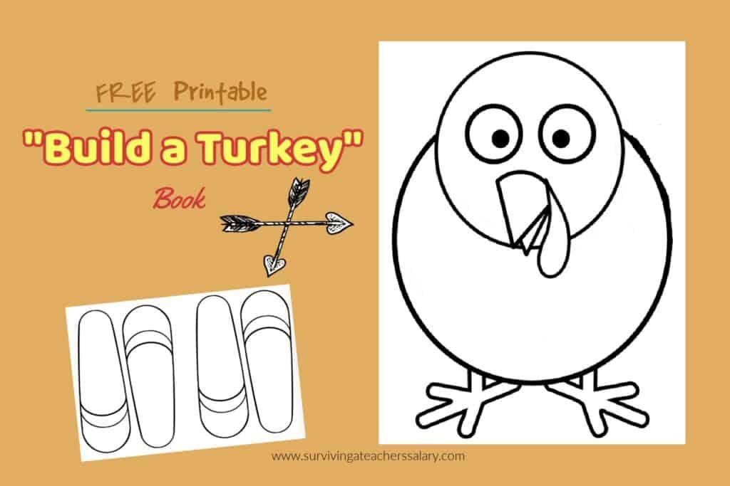 free printable thanksgiving build a turkey book