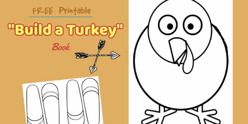 free printable thanksgiving build a turkey book